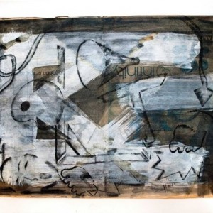 Irmy Adani, Untitled, 2005, Graphite, acrylic and pigment on newspaper 41x57 cm