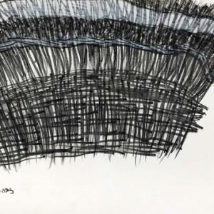 """ריבה פינסקי, אוודיש החצאית, 2007, עיפרון-אקוורל וצבעי מים על נייר 42X29.7 ס""""מ"""