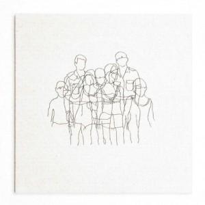 """הגר ציגלר, משפחות, 2009, רקמה על בד 37X37 ס""""מ"""