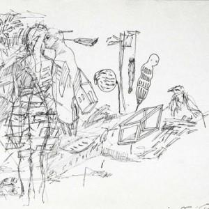"""דרור קרטה, מן הסדרה, """"Fuck You I Love You Too"""" 2009 עט על נייר 30X21 ס""""מ"""