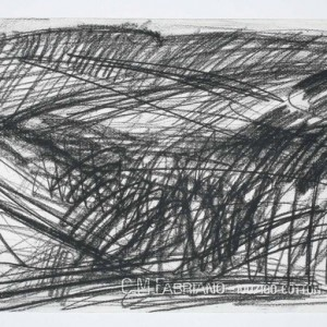 Alex Kremer, Valley of Hinom, 2009, Charcoal on paper 28x38 cm