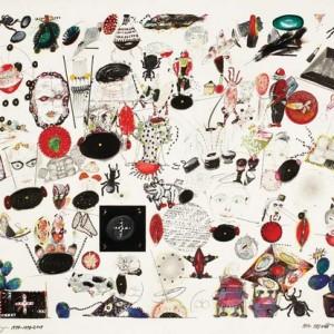 """מיכאל רורברגר, רישום פרטני מס' 1, 1994-2009, עיפרון, עפרונות צבעוניים, עט לבד, דיו וטיפקס על נייר 61X51 ס""""מ"""