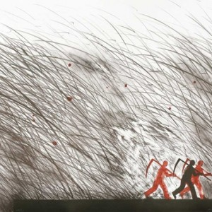 Avraham Eilat, People Crossing a Drawing, 2010, Lithograph on paper 50x70 cm