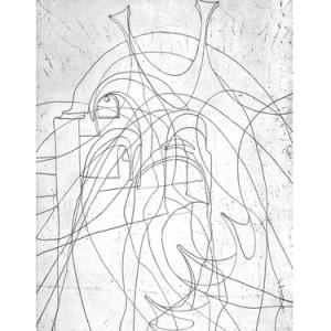"""דוד בהר-פרחיה, הנביאים/שבטי ישראל, 2010, תצריב על נייר 56X76 ס""""מ"""