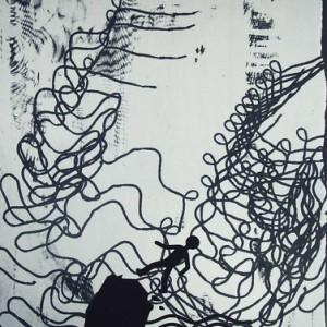 """מיכל בקי, La Cote 2010, הדפס-רשת על נייר 70X85 ס""""מ"""
