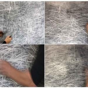 """לזלי רובין-קונדה, קיר של רישום מתמשך, 2009/2010 פחם ומחיקה על קיר 340X200 ס""""מ"""
