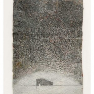 David Isaacs, Rest 2010, Engraving, gouache and Supercryl on handmade paper 50.5x50.5 cm
