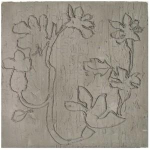 """יחזקאל ירדני, טבע אורבני, 2005, חריטה על בטון 61X60 ס""""מ"""