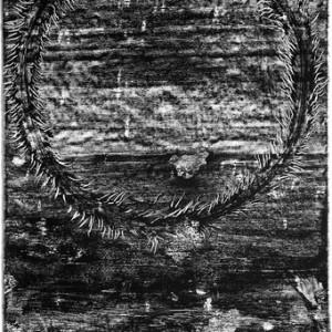 """משה גרשוני, בלא כותרת, 1997, הדפס-רשת על נייר 80X120 ס""""מ"""