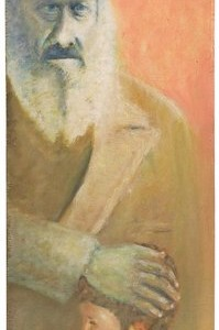 Grandpa Jacob blesses, 2000 oil on wood 40X80 cm