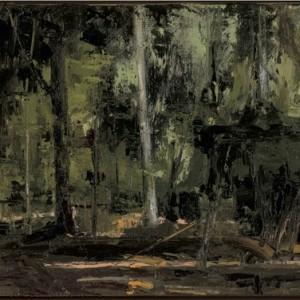 Tiergarten Berlin - Farber Eldar, 2008 , oil on canvas, 18X24 cm