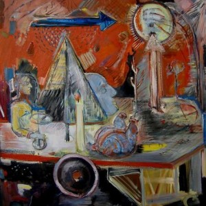 "Live - still life , 2011 oil on canvas 90X100 ס""מ"
