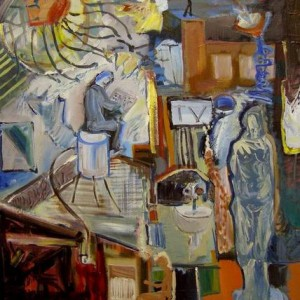 LIVE@TV , 2011 oil on canvas 60x70 cm