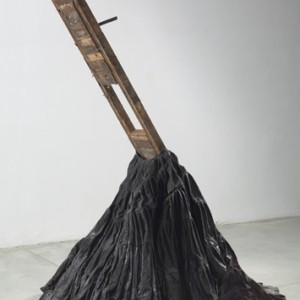 Gili Avissar Black Widow 2010, industrial paint on fabric and wood 188X120X130 cm