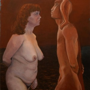 Nimrod and You - Ruven Ora,  2007, oil on canvas, 100X80 cm.