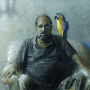 Talking and Flying - Shefet Amir,  2010, oil on wood, 150X100 cm.