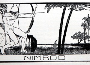 "Nimrod, from illustrations for ""Die Bucher der Bible"" - Lilien Ephraim Moses, 1908"
