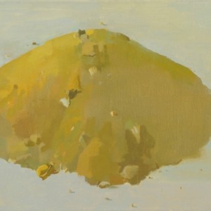 Mound 1 - Kedem Alon,  2010,  oil on canvas, 35X45 cm