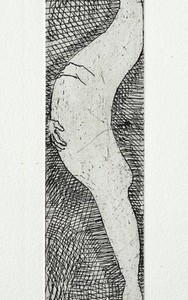 Maternity, 2011 Etching 27X6 cm