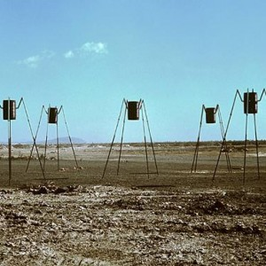 """Structures I, II, III, IV, V (Aliens)"" , 1971 Painted metal"