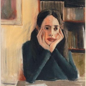 Anna Pasternak, At the Library, 1986, pastel on paper 61x46 cm