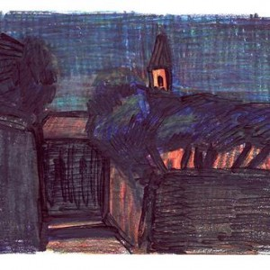 Asja Lukina, Yaffa, 23.10.03 2003, color pencils and marker 15x21 cm