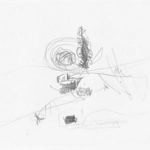 Zvi Mairovich, Untitled, 1951, pencil on paper 21x27 cm