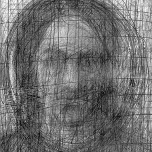 Uzi Katzav, Self Portrait, 2001, pencil on paper 35x25 cm