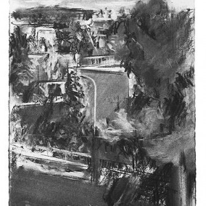 Meir Appelfeldת View from the Window, 2003, charcoal on paper 35x25 cm