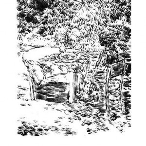 Shaul Shats, In the Garden, 1994, etching 38x28 cm