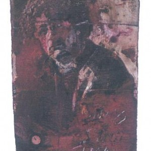 Sima Konson, Poet, 2002, mixed media 5.2x3.2 cm
