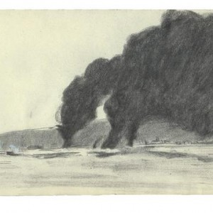 Neta Lieber-Scheffer, Untitled, 2002, charcoal on paper 14x21 cm