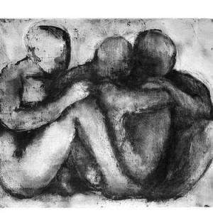 Sidon Rothenberg, Human Group, 2003, etching and aquatint, 56x76 cm