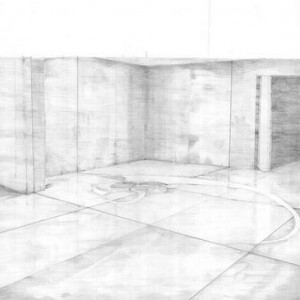 Maya Zack and Raya Bruckenthal, Space The Baron ET von Home, 2003 pencil on paper 50x70 cm