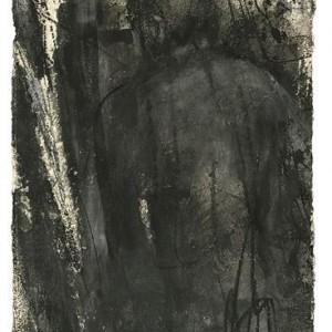 Ruth Nevo, Adam, 1998, ink, charcoal, gouache on handmade paper 50x36.5 cm