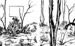 Keren Anavy, Window (detail), 2004 Ink on paper 30x80 cm