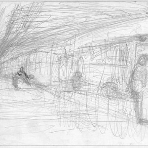 Gill Zellner, Untitled, 2003, pencil on paper 21x29 cm
