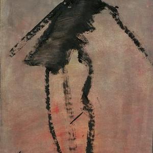 """אשה, 2004 צבע שמן מדולל על נייר 28x20 ס""""מ"""