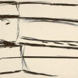 Aviva Uri, Untitled, 1963-4, black chalk on paper 50.2x70.4 cm