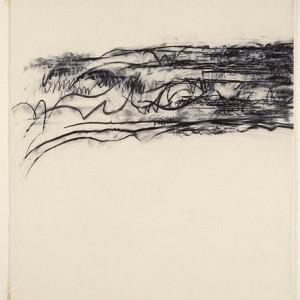 Aviva Uri, Untitled, 1976 chalk, acrylic and pencil on paper 79.5x70.5 cm