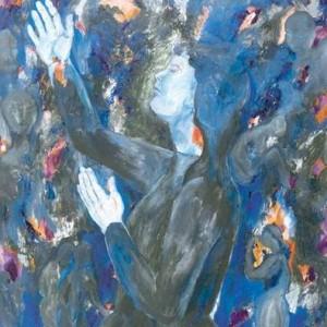 The prayer, Oil on canvas 100 x 80