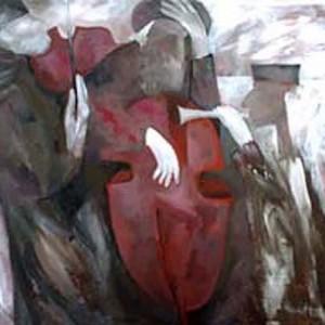 ניגון, 2001 Acrylic. canvas 100x70 סמ'