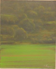"Green Grove, Oil on Canvas 30 X 35 c""m"