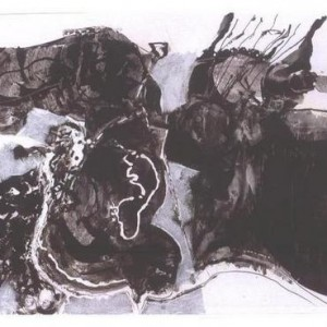 "Untitled - Bayle John, 2000, Aqrilic on Paper, 50 X 70 c""m"