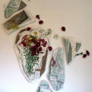 Flowers-influence of the things2 - Rose Nadia - Adina, 2005, Mixed Media