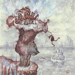 """חיים על פני תהום, 1999 נייר עבודת יד, דיו צבעונית 34 X34 ס""""מ"""