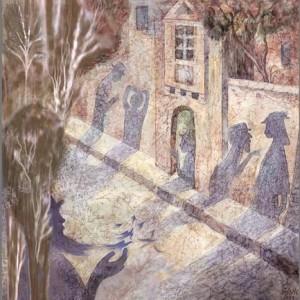 """רחוב הנביאים, 2004 צבעי מים 42X45 ס""""מ"""