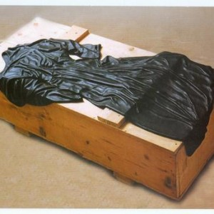 Little Black Dress - Helerman Bat Ami, 2004, Black Granite and Wood
