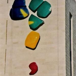 מתכת ממוחזרת, קיר באוניברסיטה העברית, הר הצופים