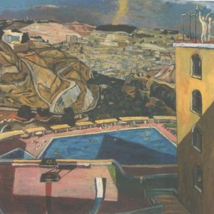 Michael Kovner, View from Mount Zoin Hotel ,1989-1990 Oil on Canvas 130X150